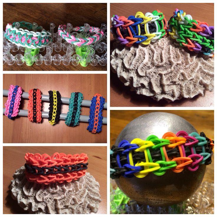 Diferentes modelos pulseras gomas
