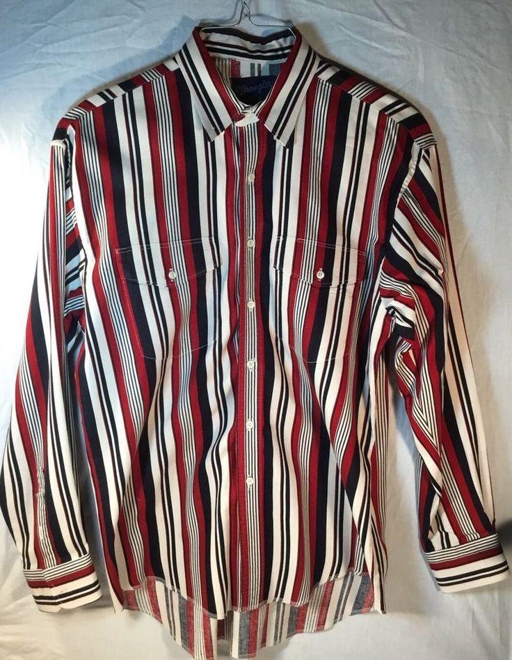 VINTAGE Wrangler Cowboy Cut Regular Fit Western Shirt, X-Long Tails, 16 1/2 - 35 #Wrangler #Western
