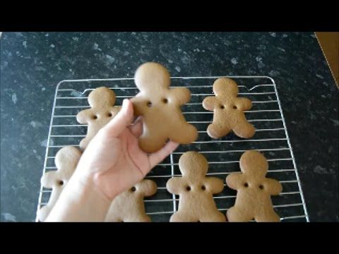 How to make gingerbread dough for gingerbread man cookie and gingerbread house