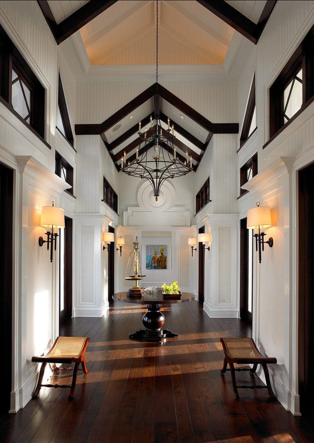 Entryway Design Ideas. Grand Entryway With Amazing Architectural Details. # Entryway