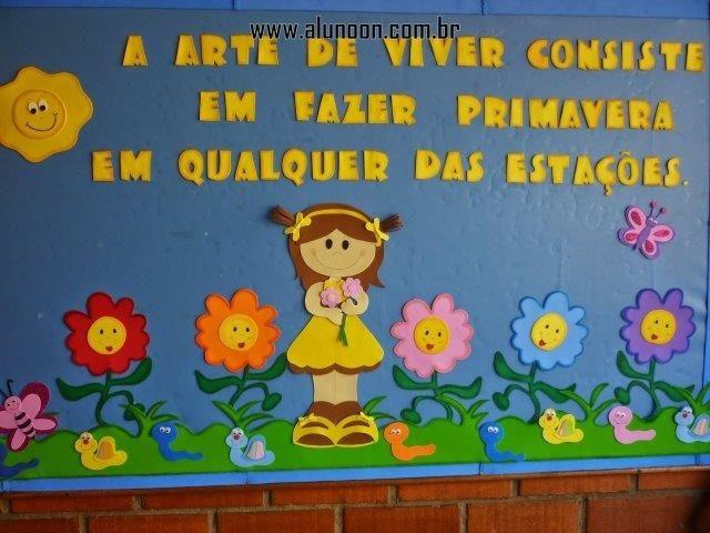 40 Ideias de Murais para Primavera - Educação Infantil - Aluno On