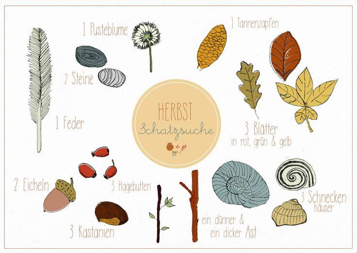 Herbstschatzsuche {Spielidee mit Freebie – susanne ooi