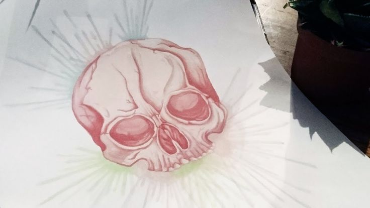 Speed painting - Promarkers - Pink skull