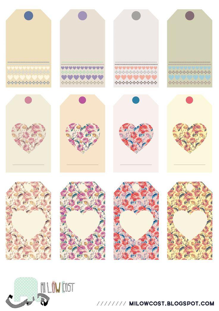 imprimibles: etiquetas I love flowers | milowcost♥