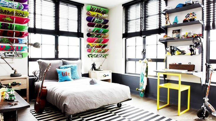 43 idées déco avec des planches de skateboard.