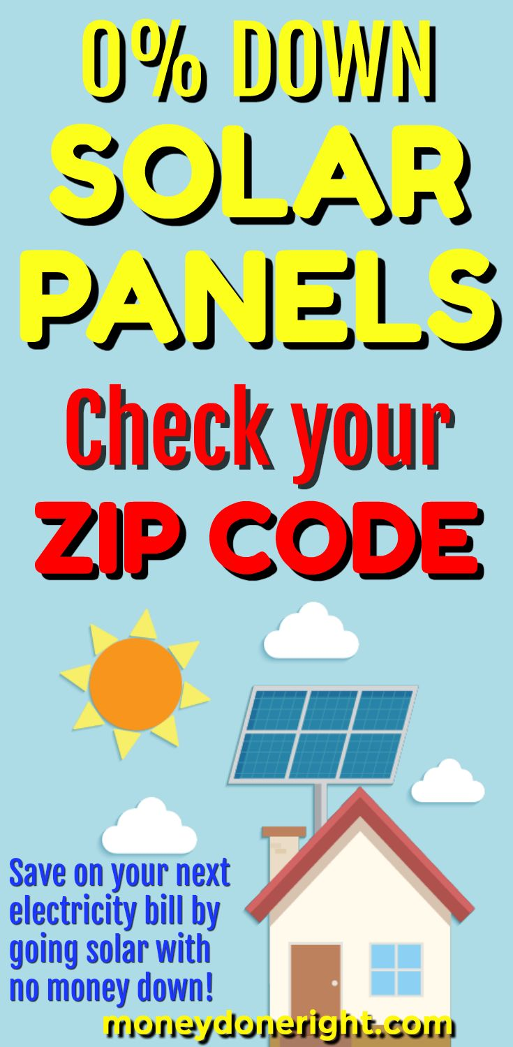 Read this article to learn how you can get solar panels installed with no money down! Check your ZIP code to see if you qualify and start saving money on your electricity bill now!