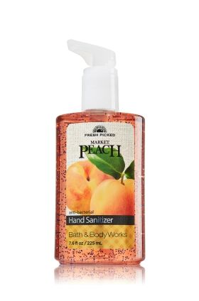 Fresh Picked Market Peach Sanitizing Hand Gel - Anti-Bacterial - Bath & Body Works