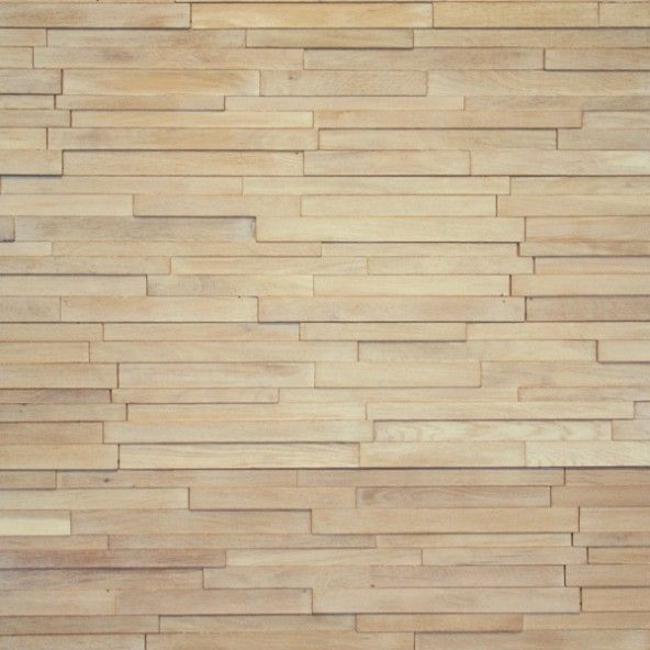 "3D Stacked Ivory White Oak 7.5"" Walling"