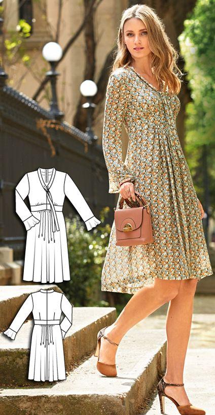 Empire Waist Dress Burda Sep 2016 #105  http://www.burdastyle.com/pattern_store/patterns/empire-waist-dress-092016