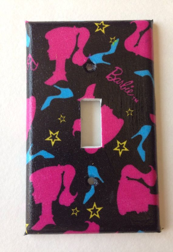 Best 20  Barbie bedroom ideas on Pinterest   Barbie storage   Barbie Light Switch Plate Cover   Black and Pink Barbie Inspired Light  Switch Plate Cover various sizes   Barbie bedroom decor. Barbie Bedroom Decor. Home Design Ideas