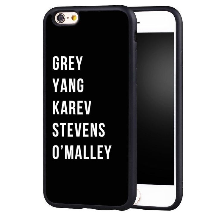 Great gift for Grey's Anatomy fans! This one piece shell type cover is made from impact resistant flexible plastic and features a full print design which runs over the back and sides of the cover. Sim