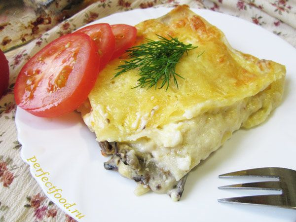 Вегетарианская лазанья - рецепт с фото
