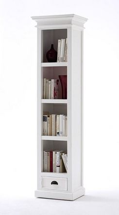 Tall Narrow Bookcase With Drawer - £540.00 - Hicks and Hicks