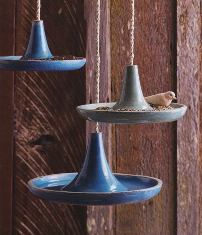 Cote dAzur Mid Century Modern Bird Bath | Available from NOVA68.com Modern Design  Maybe use a tangine with a rope through it?