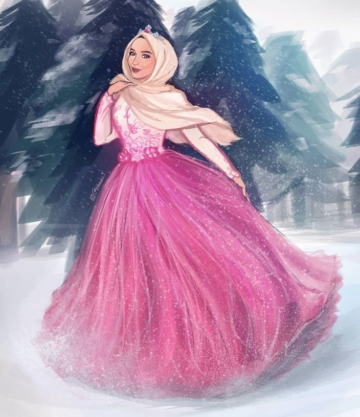 Pin oleh Luxyhijab di Hijab illustration / رسومات الحجاب
