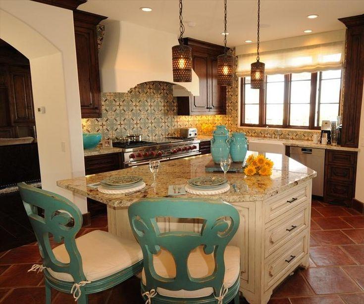 Old World Kitchen Design in New Spanish Colonial Homejpg - Spanish colonial home