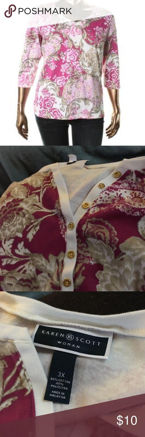 Karen Scott plus size shirt Cute plus size shirt. Karen Scott Tops Tees - Short Sleeve