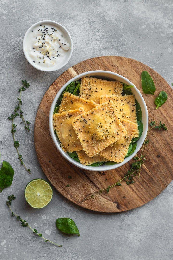 Homemade Vegan Ravioli With Tofu And Spinach (GF) Earth