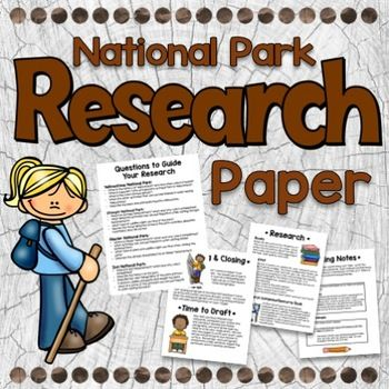 In this unit students will write a research paper about the national parks. Students will learn to research, write note cards, create an outline, and draft a research paper.  Included in the packet--• Cover Page• Due Dates for Project• Unit Outcomes• List of Park Options (12 different parks)• Questions to Guide Research