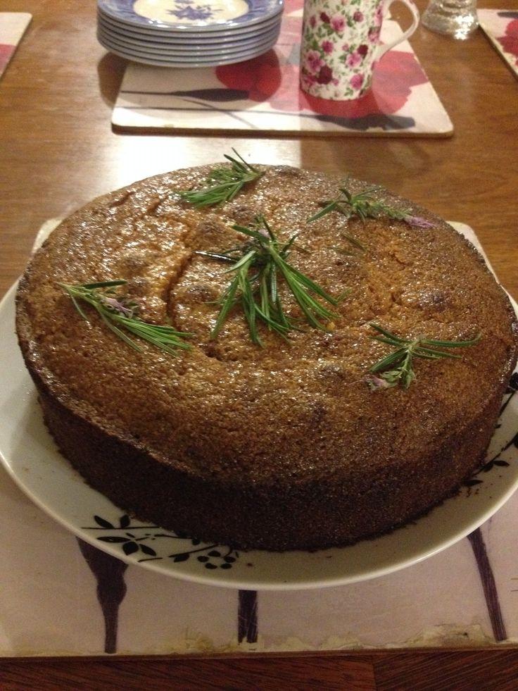 Rachel Allen's Lemon Rosemary Polenta cake