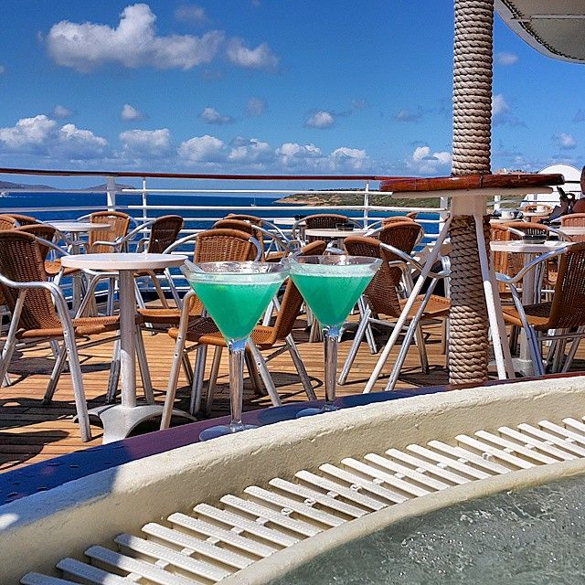 Colorful cocktails by the pool of Celestyal Cruises! Enjoy your weekend in style!  Photo by @ipek.aydar #Celestyalcruises #colorful #cocktails #pool #style #enjoy