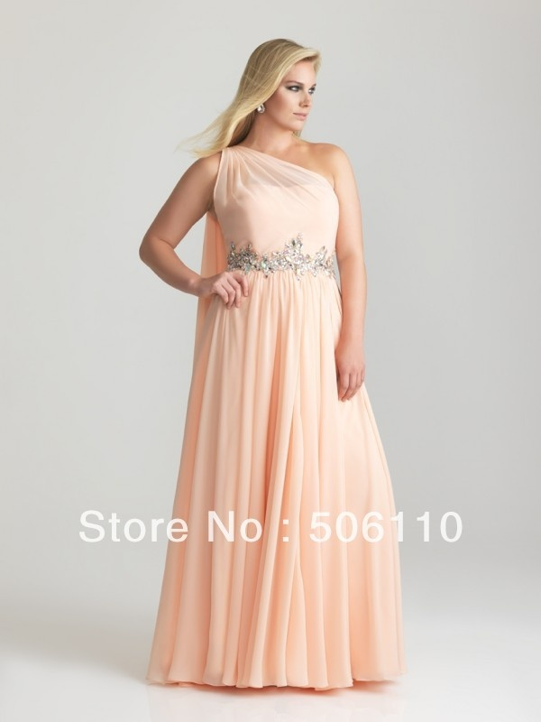 Colorful plus size prom dresses