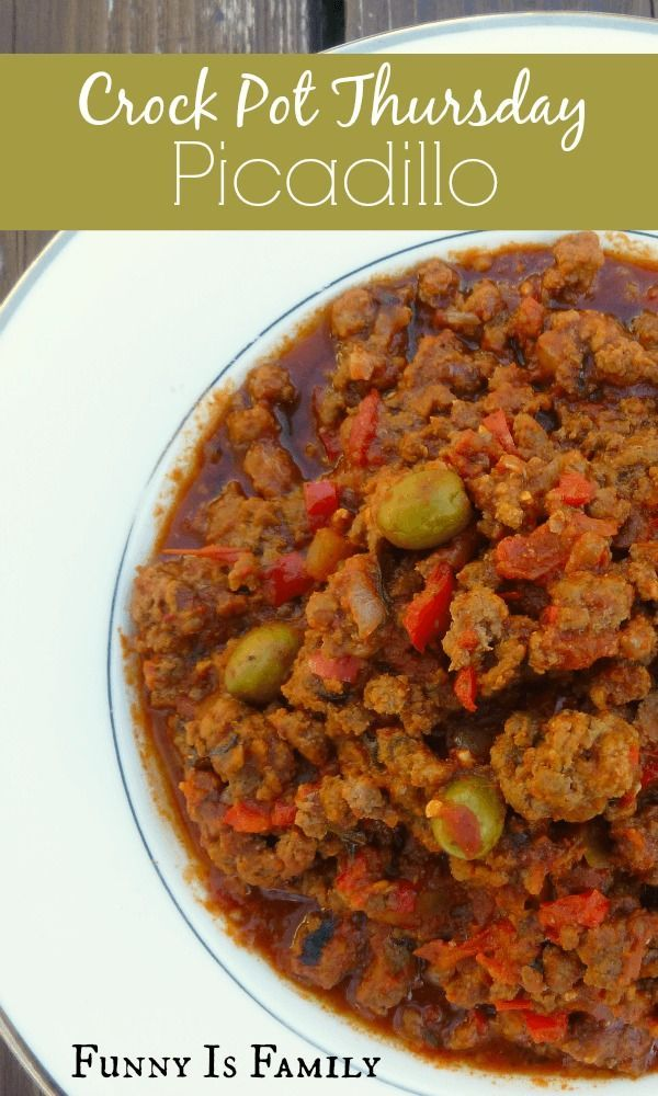 This Crockpot Picadillo recipe has the most delicious flavor and is ...