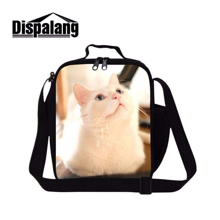 Dispalang Cute Cat Prints Insulated Lunch Box For Kids Lunch Carry Storage Picnic Bag Lancheira Thermo Lunch Bag Men Lunch Tote