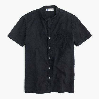 J.Crew+-+Industry+of+All+Nations™+short-sleeve+band-collar+madras+shirt