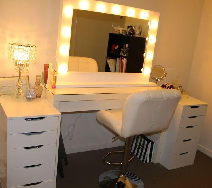 ikea makeup vanity makeup vanities vanity with lights lighted mirror. Black Bedroom Furniture Sets. Home Design Ideas