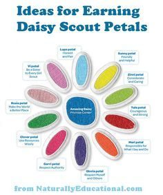 Ideas for earning each Girl Scouts Daisy Petal #GirlScouts #Daisy --- at NaturallyEducational.com