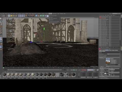 CINEMA 4D R18 Redshift Fog and Lights - YouTube