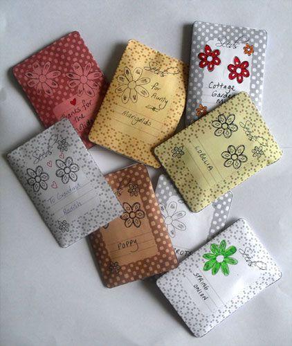 Printable Seed Packets PrintablesBoxes Envelopes Pinterest