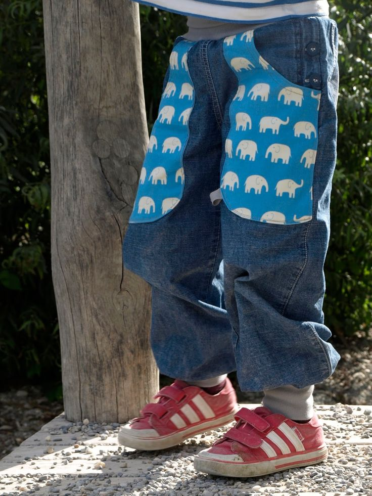 VILLA SEPIA: Pumphose mit Elefanten (Kokka) nähen. Klim-en speelbroekje met olifantjes (Kokka) naaien.