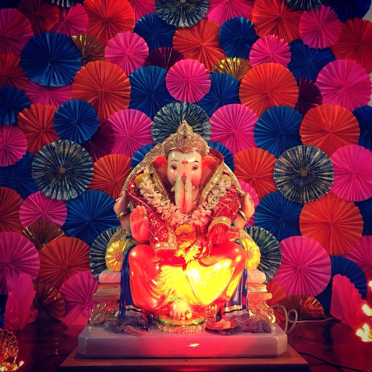 10 best ganesh chaturthi decor ideas images on pinterest for Artificial flower decoration for ganpati