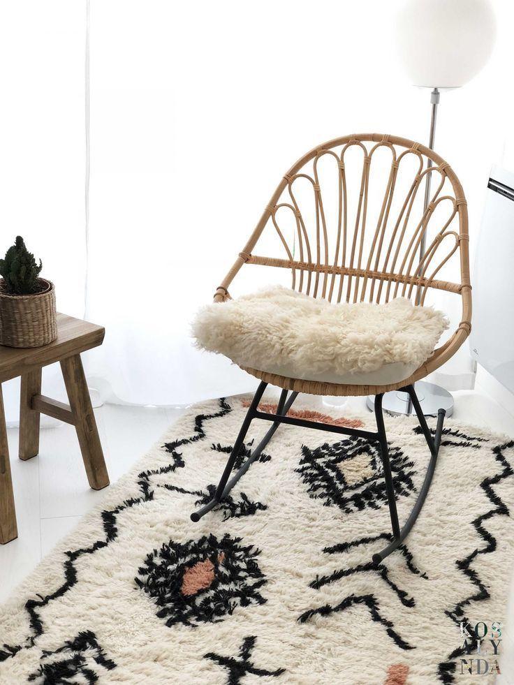 Fauteuil A Bascule In 2020 Rocking Chair Nursery Rattan Rocking Chair Nursery Chair