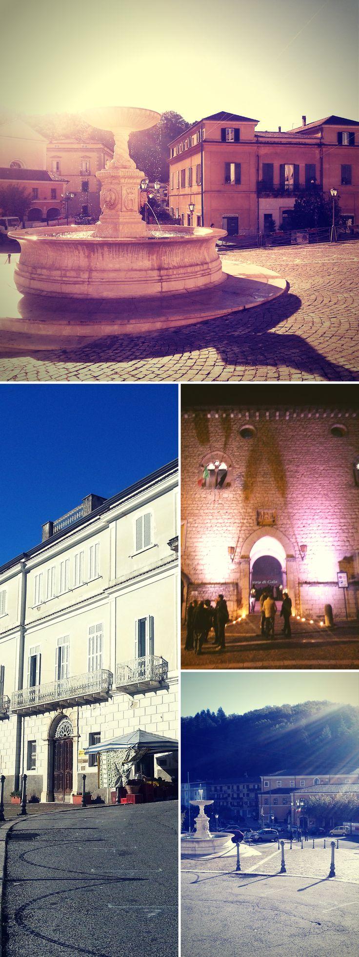 Atina, Valle di Comino, province of Frosinone, Lazio, Italy #fountain #square #castle