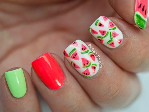 Bellas decoraciones de uñas | Deliciosos diseños de uñas en Sandia