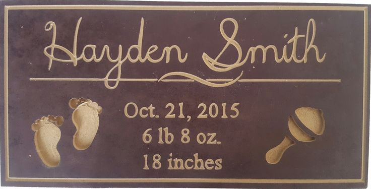 $25 CAD - Personalized Baby Sign, Personalized Signs, Baby Gift, Newborn Gift, Custom Baby Plaque, Wall Plaque