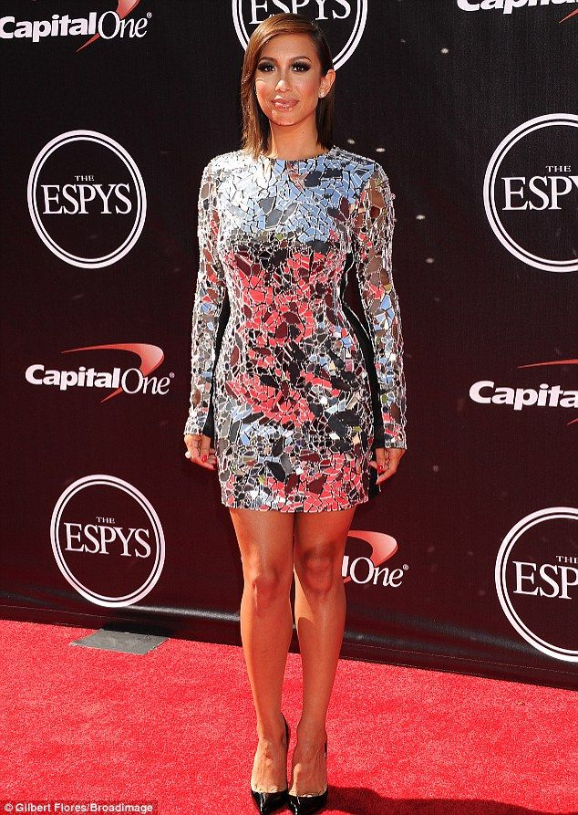 Cheryl Burke, who recently dropped 15 lbs, stunned in a mirrored minidress at the 2014 ESPYS http://dailym.ai/1qKLt76
