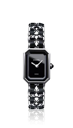 CHANEL - Première Steel - Black lacquered dial and steel chain bracelet - Chanel Watches