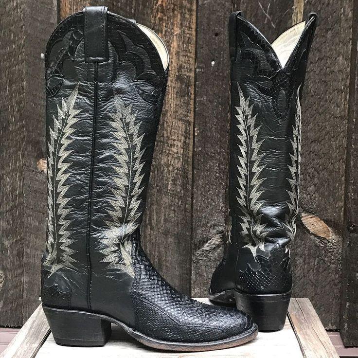 Women's Gorgeous Python Exotic Snakeskin Cowboy Boots Size 4  | eBay