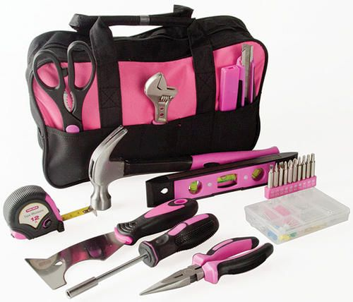 31 Piece Ladys Tool Set At Menards 31 Piece Ladys Tool Set Art Tools Tool Set Lady