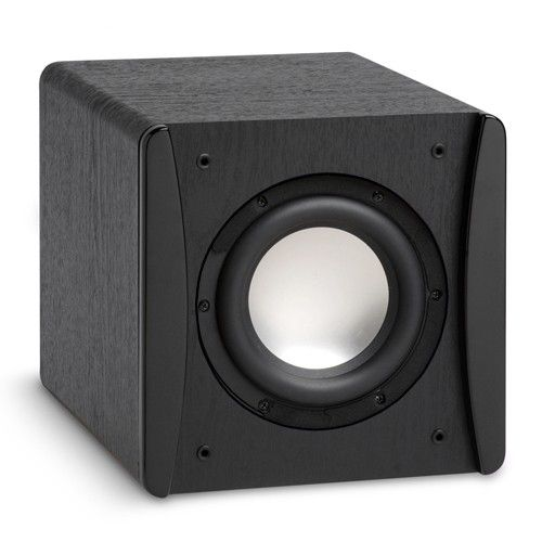 SUBWOOFER VELODYNE IMPACT MINI. With the Impact-Mini you get amazing bass in a tiny cabinet that is almost the same size as the MiniVee-8, but at a very budget-friendly price. This engineering marvel is lightweight with an aluminum cone, furniture-quality cabinet finish and concentrates its 300 watts of output power in the 38 Hz to 140 Hz range. #Subwoofer #Velodyne