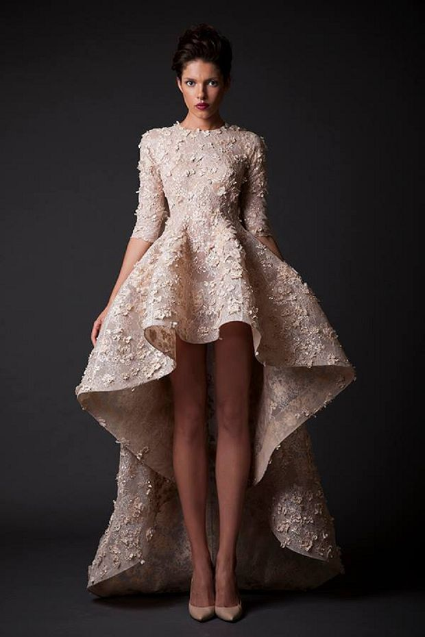 Fancy Top High Low Wedding Dresses