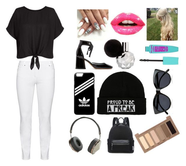 """Random #2"" by laimaandtuhfa ❤ liked on Polyvore featuring Steilmann, Christian Dior, Marc Jacobs, adidas, Le Specs, Frends and Urban Decay"