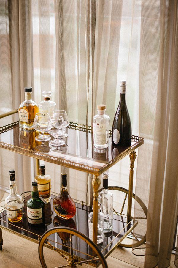 cocktail cart #belgium #contemporarywedding  #weddingchicks http://www.weddingchicks.com/2014/01/03/contemporary-wedding/
