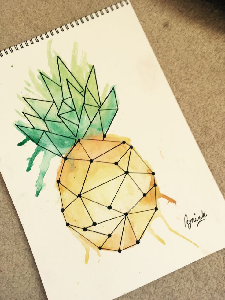 Watercolor Pineapple – #Pineapple #vector #Waterco…