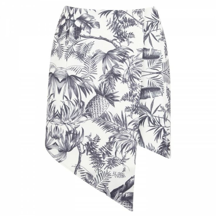 Jump Then Fall asymmetric neoprene skirt, Mini, Harvey Nichols Store View