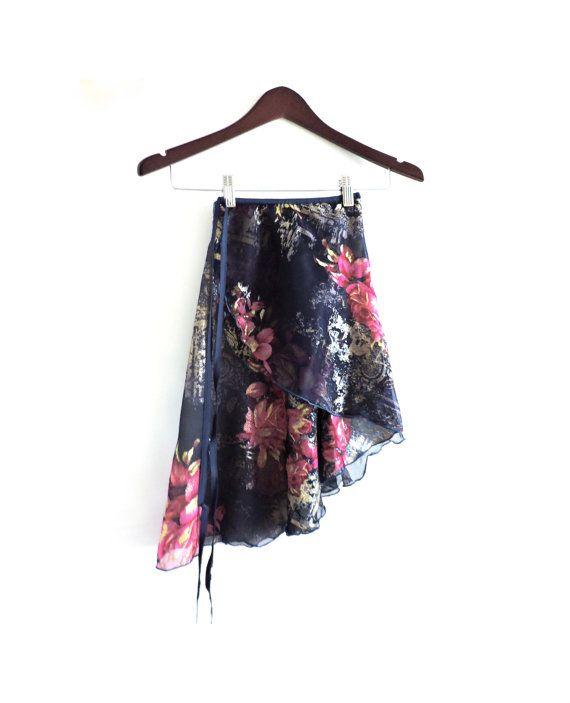 Wrap Around Ballet Skirt Elasticated Cross Over by BabyBunheads • short length